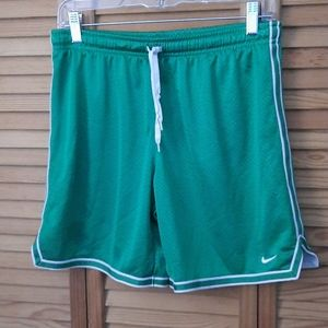 Nike Green Lined Track Shorts Size Petite Small
